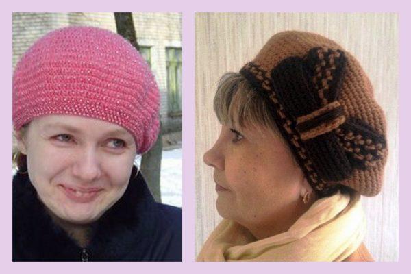 Вязаные шапки для женщин 50 лет