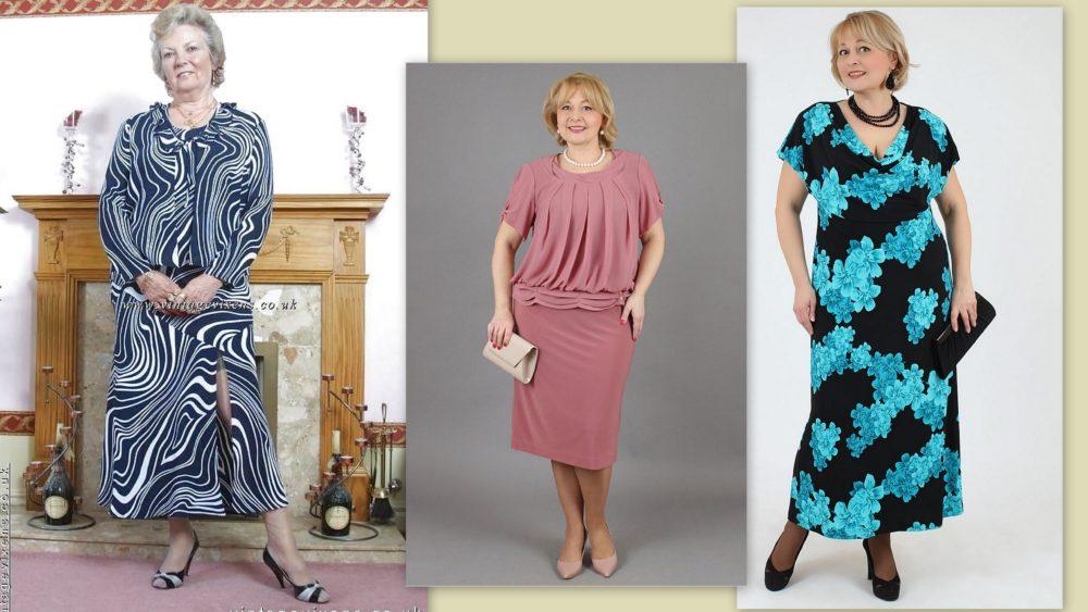 платья для женщин 60 лет